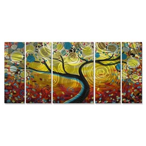 Sunny Swirl Tree Metal Wall Decor Multicolored Large