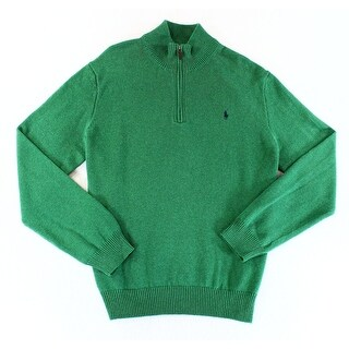 Polo Ralph Lauren NEW Green Mens Size Small S Quarter Zip Sweater