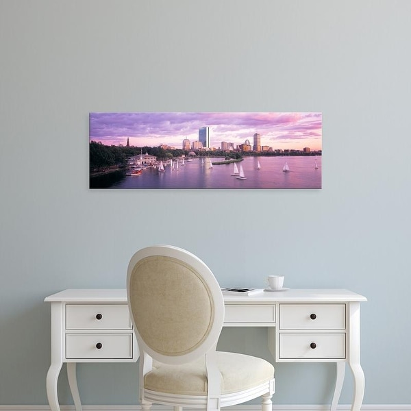 Easy Art Prints Panoramic Images's 'Dusk Boston MA' Premium Canvas Art