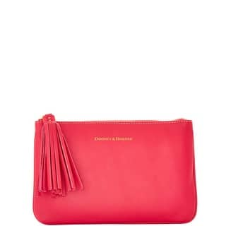 Dooney & Bourke Lambskin Carrington Pouch (Introduced by Dooney & Bourke at $88 in Aug 2016) - Fuchsia|https://ak1.ostkcdn.com/images/products/is/images/direct/f63ea87fb0c6b74e759e1787ecce3efdbd3dbb69/Dooney-%26-Bourke-Modified-Lamb-Carrington-Pouch.jpg?impolicy=medium
