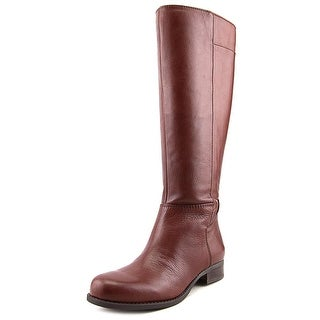 Nine West Liraow   Round Toe Leather  Knee High Boot