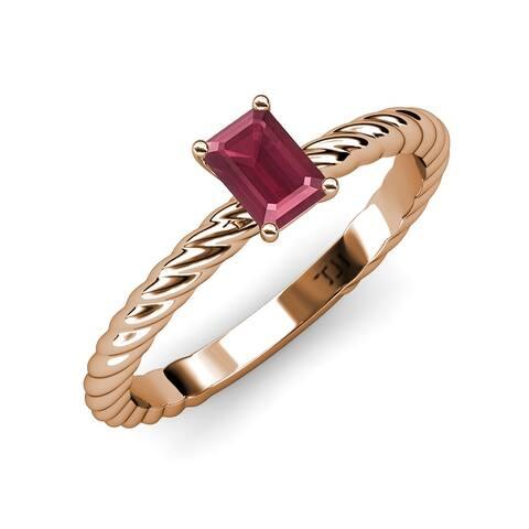 TriJewels Rhodolite Garnet 1 7/8 ct Womens Solitaire Engagement Ring 14K Gold