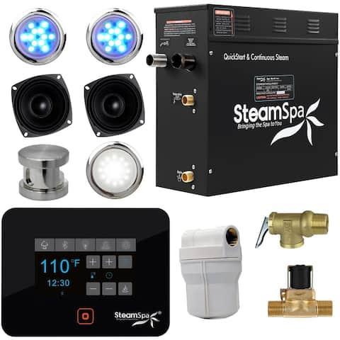 SteamSpa BKT600-A Black Series 6kW QuickStart Steam Bath Generator Package