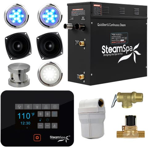 SteamSpa BKT900-A Black Series 9kW QuickStart Steam Bath Generator Package