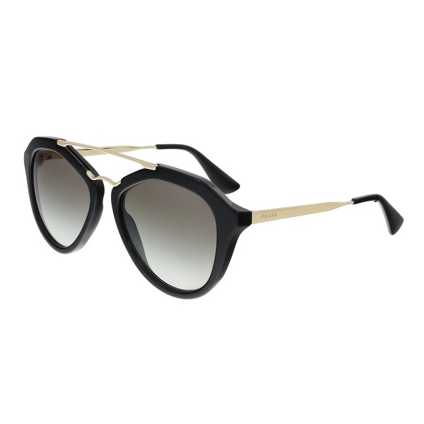 Prada PR 12QS 1AB0A7 Black Irregular Aviator Sunglasses - 54-18-135