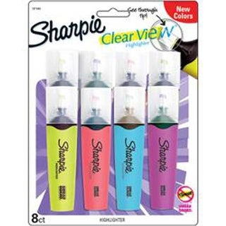 Assorted - Sharpie Clear View Tank Highlighters 8/Pkg