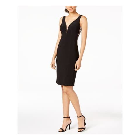 XSCAPE Black Sleeveless Above The Knee Sheath Dress Size 12