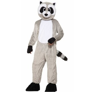 Forum Novelties Rickey Raccoon Mascot Adult Costume - Grey - Standard