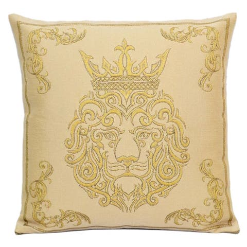 STP Goods Decorative King of Beasts Tapestry Throw Pillow