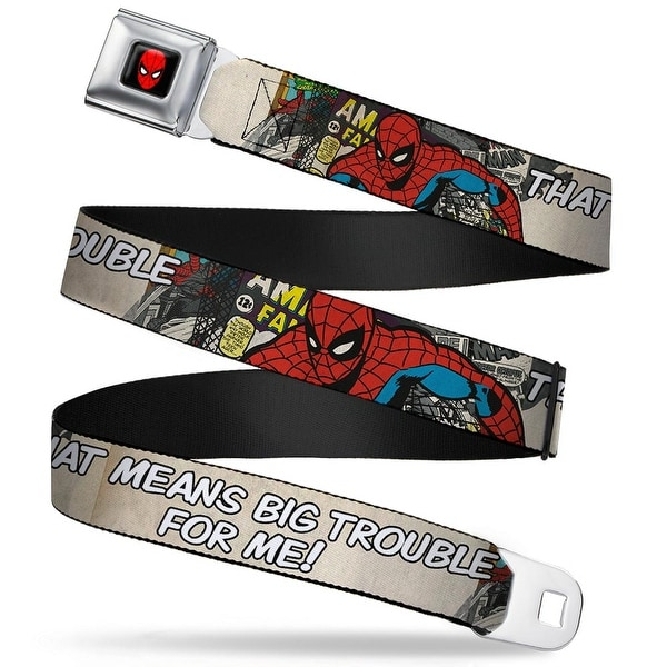 Marvel Comics Spider Man Full Color Spider Man That Means Big Trouble For Seatbelt Belt