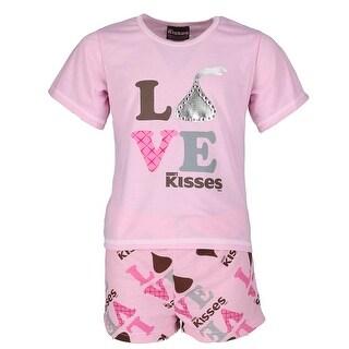 Hersheys Kisses Girl's Love and Kisses Tee and Short Pajama Set