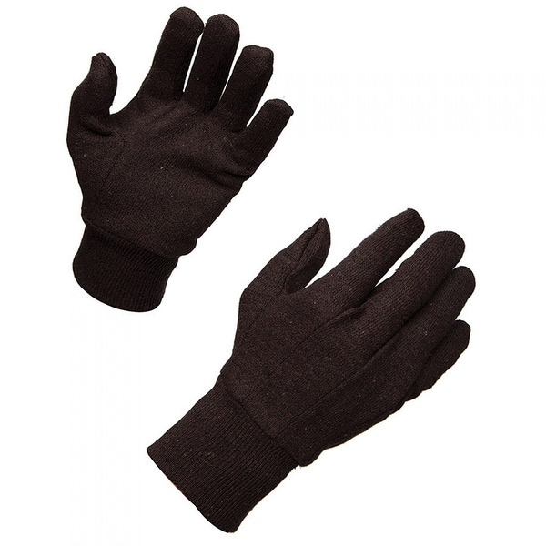AMMEX BJ Brown Jersey Knit Work Gloves (Bag of 12 pairs)