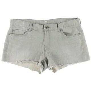 7 For All Mankind Womens Whisker Wash Denim Cutoff Shorts - 32