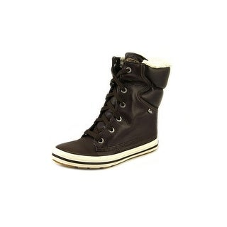 Keds Droplet Women Round Toe Leather Brown Winter Boot