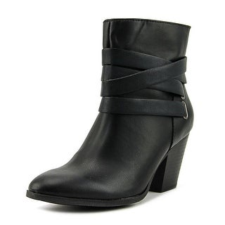 A.N.A Luz Women  Pointed Toe Synthetic Black Ankle Boot