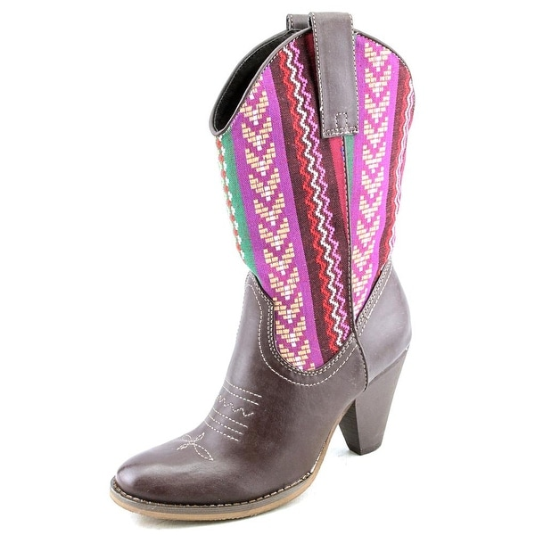 Spite Silverwood Women  Round Toe Synthetic Multi Color Western Boot