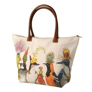 Link to Paper Products Design Women's Vicki Sawyer Bird Entourage Canvas Tote Bag - Multi - Medium Similar Items in Shop By Style
