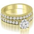 2.40 cttw. 14K Yellow Gold Round Cut Diamond Bridal Set - Thumbnail 0