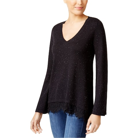 Style&Co. Womens Lace Insert Knit Sweater