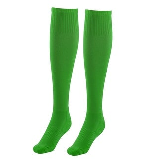 Adult Cotton Blends Knee High Style Rugby Soccer Football Socks Green Pair