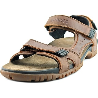 Mephisto Brice Men Open-Toe Leather Brown Sport Sandal