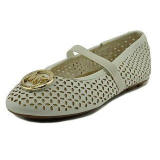Michael Michael Kors Faye Maisy Youth Round Toe Synthetic White Mary Janes