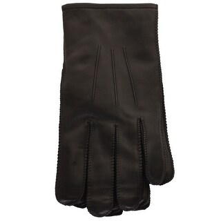 Isotoner Signature Men'S Black Smooth Leather Smartouch Gloves XL