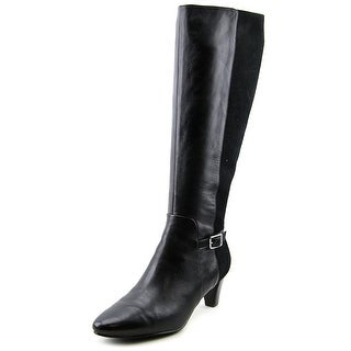 Cole Haan Sylvan Boot Pointed Toe Leather Knee High Boot