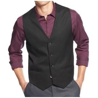 Calvin Klein NEW Black Mens Size XL Sleeveless Four Button Core Vest