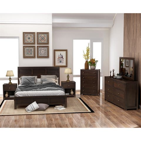Merax Classic Chatham Rich Brown 6 Piece Bedroom Set