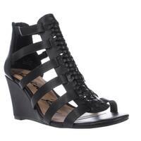 AR35 Amelia Wedge Strappy Sandals, Black