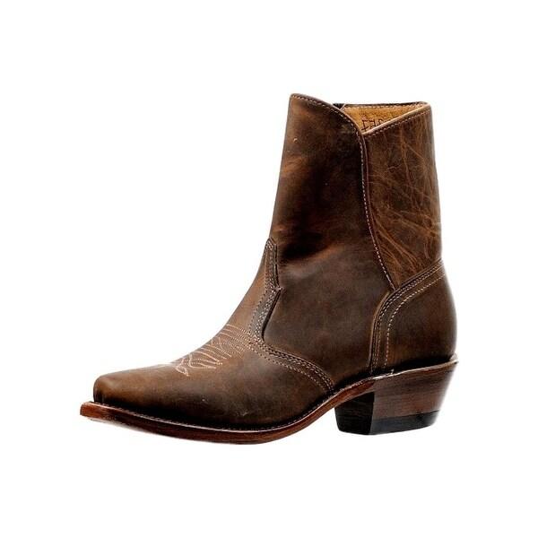 Boulet Western Boots Womens Cutter Side Zipper Hillbilly Golden