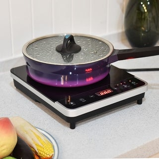 Costway Electric Induction Cooker Single Burner Digital Hot Plate Cooktop Countertop New