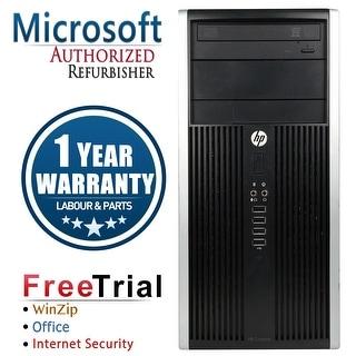 Refurbished HP Compaq 6200 Pro Tower Intel Core I5 2400 3.1G 4G DDR3 500G DVDRW Win 7 Pro 64 1 Year Warranty - Black