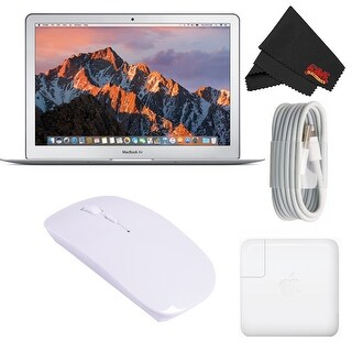 "Apple 13.3"" MacBook Air 256GB SSD #MQD42LL/A (Newest Version 2017 Model) Starter Bundle"