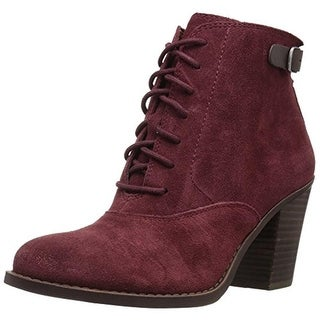 Lucky Brand Womens Echoh Ankle Boots Suede Lace Up
