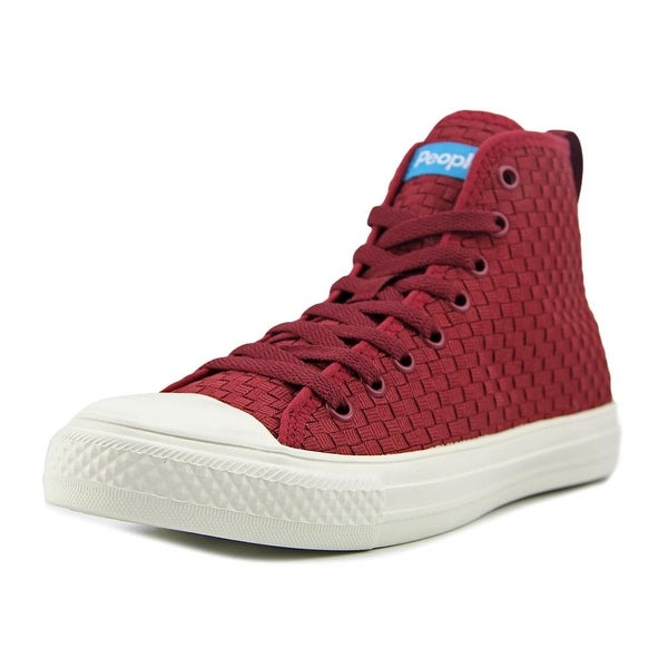 People Footwear The Phillips High Women Round Toe Synthetic Burgundy Sneakers