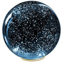 Lighted Mercury Glass Ball Sphere - Blue - LARGE