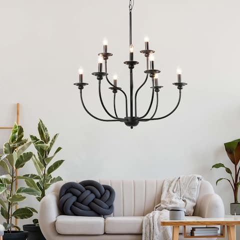 "The Gray Barn Windy Bracken 9-light Traditional Chandelier Pendant Ceiling Lamp - D 30""x H 32"" - D 30""x H 32"""