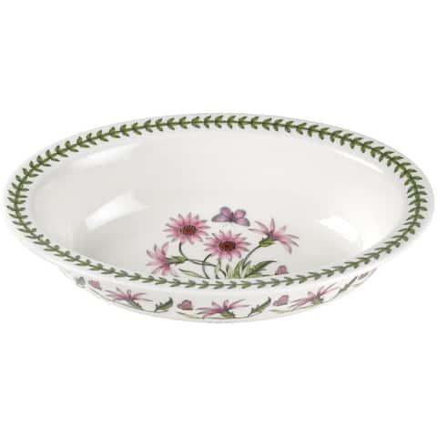 Portmeirion Botanic Garden Treasure Flower Oval Pie Dish - 13.75 inches diameter