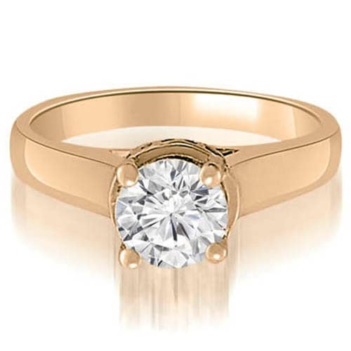 1.05 cttw. 14K Rose Gold Lucida Round Diamond Engagement Ring
