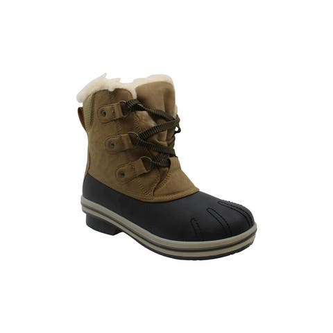 Pawz Women's Shoes Ginnie Almond Toe Ankle Cold Weather Boots
