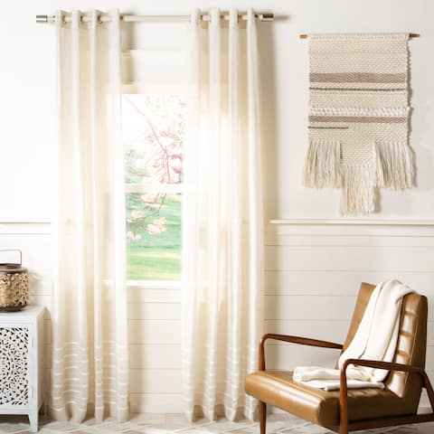 Safavieh Delancey Semi-Sheer Window Curtain Panel
