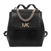 MICHAEL Michael Kors Mott Leather Black Backpack