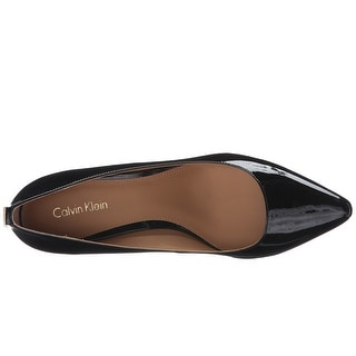 Calvin Klein Womens Natalynn Leather Pointed Toe Classic Pumps