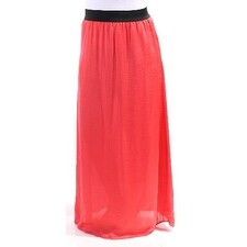 BAR III $49 Womens New 6290 Orange Full-Length Pencil Casual Skirt L B+B