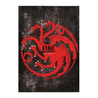 "Fire & Blood Targaryen Canvas Wall Art - 18"" x 13"" - 18 in. x 13 in."