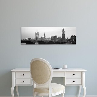 Easy Art Prints Panoramic Images's 'Houses of Parliament Westminster Bridge & Big Ben London England' Canvas Art