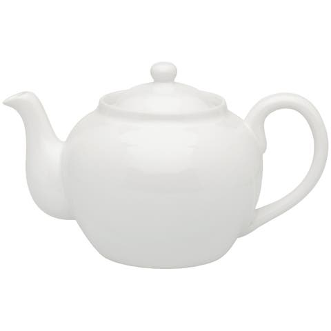 Harold Import 71/374-6W Teapot With Stainless Steel Infuser, White