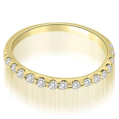 0.17 cttw. 14K Yellow Gold Petite Round Cut Diamond Wedding Band